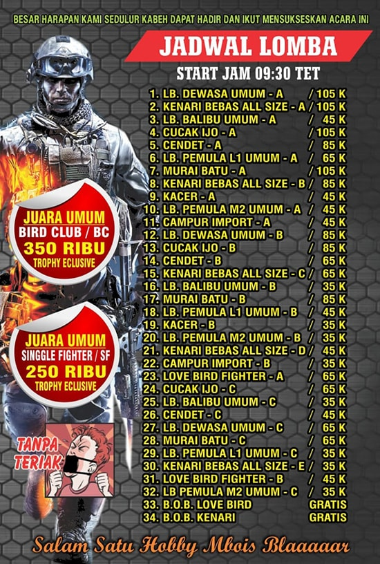 Jadwal Lomba Monster Army Championship 1