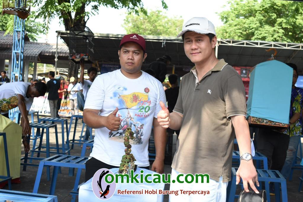 om Ww Angga (kanan) puas dengan penampilan kacer Upin